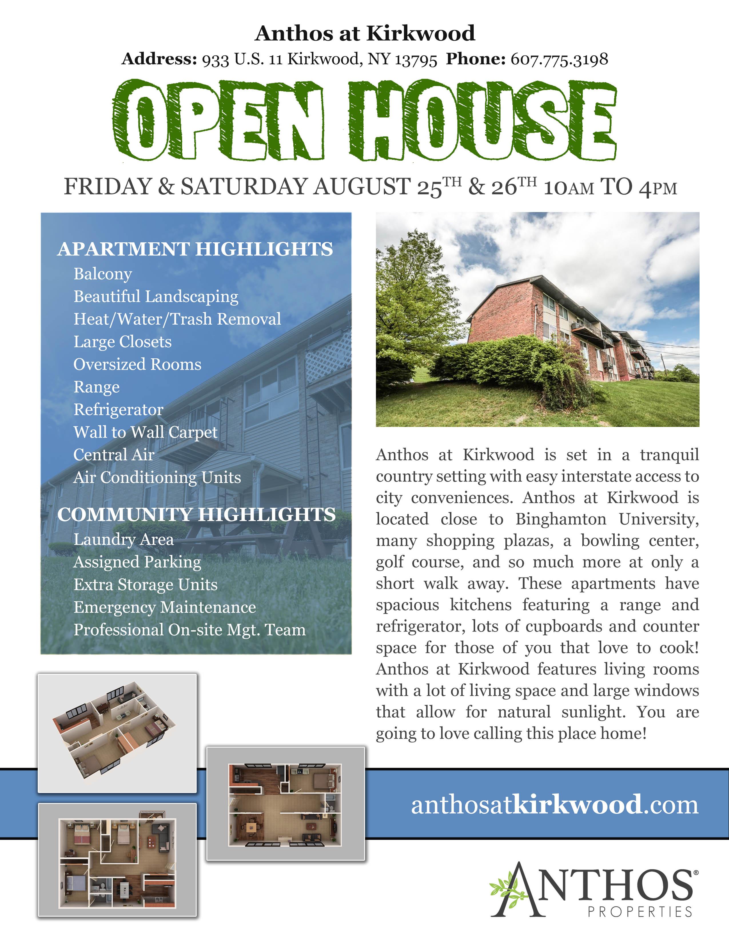 anthos at kirkwood open house | anthos properties